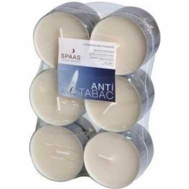 12x maxi geurtheelichtjes anti tabak/vanille geur 10 branduren