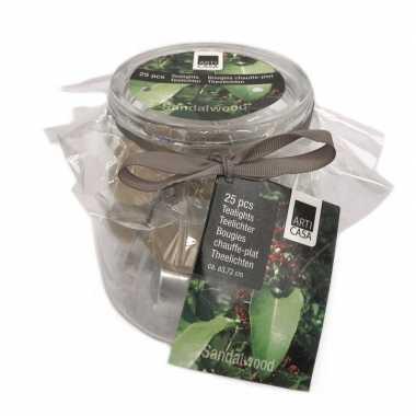 25x theelichtjes/theelichtjes citroengras geur in pot