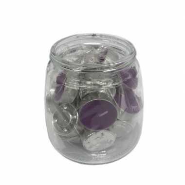 25x theelichtjes/theelichtjes lavendel geur in pot