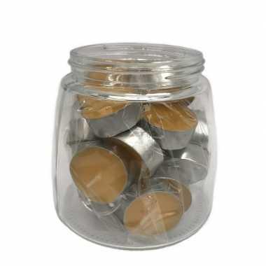 25x theelichtjes/theelichtjes mango geur in pot