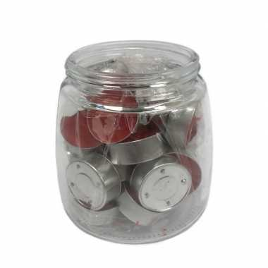 25x theelichtjes/theelichtjes passie vruchten geur in pot