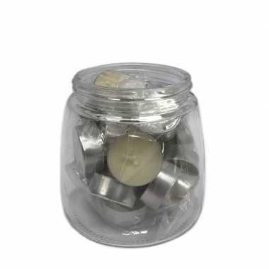 25x theelichtjes/theelichtjes vanille geur in pot