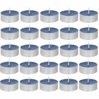 30x geurtheelichtjes oceaan/paarsblauw 4 branduren