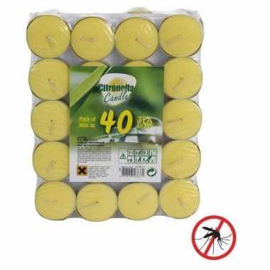 40x anti muggen theelichtjes met citronella