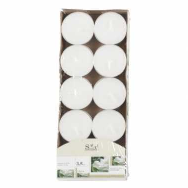 Geur theelichtjes jasmijn wit 10 stuks