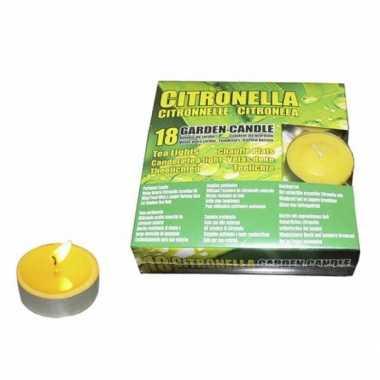 Set van 36x stuks anti muggen theelichtjes citronella