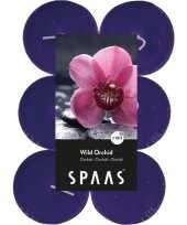 12x maxi geurtheelichtjes wild orchid paars 10 branduren