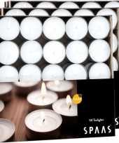 150x witte theelichtjes theelichtjes 4 5 branduren in doos
