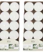 20x geurtheelichtjes jasmijn wit 3 5 branduren