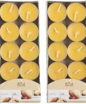 20x geurtheelichtjes mango geel 3 5 branduren