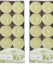20x geurtheelichtjes meloen lichtgroen 3 5 branduren