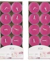 20x geurtheelichtjes rozen roze 3 5 branduren