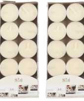 20x geurtheelichtjes vanille cremewit 3 5 branduren