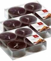 24x maxi geurtheelichtjes chocolade bruin 8 branduren