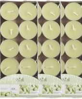 30x geurtheelichtjes meloen lichtgroen 3 5 branduren