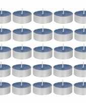 30x geurtheelichtjes oceaan paarsblauw 4 branduren