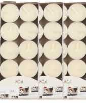 30x geurtheelichtjes vanille cremewit 3 5 branduren