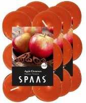 36x geurtheelichtjes apple cinnamon oranje 4 5 branduren
