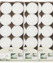 40x geurtheelichtjes jasmijn wit 3 5 branduren