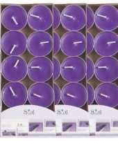 40x geurtheelichtjes lavendel paars 3 5 branduren