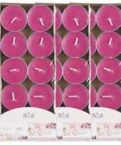 40x geurtheelichtjes rozen roze 3 5 branduren