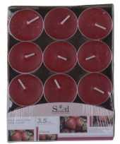 Aardbei geur theelichtjes 24 stuks
