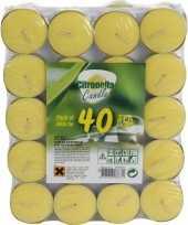 Citronella theelichtjes 40 stuks