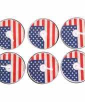 Theelichtjes amerika 6 stuks